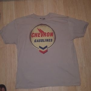 Vintage shirt with chevron gasolines
